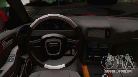 Audi Q5 2012 para GTA San Andreas vista direita