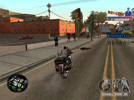 O novo C-HUD do Gueto para GTA San Andreas