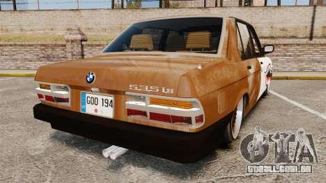 BMW 535is E28 Sharkie para GTA 4 traseira esquerda vista