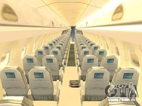 Embraer 175 HOUSE para GTA San Andreas vista inferior