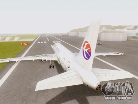 Airbus A320-211 China Eastern para GTA San Andreas vista direita