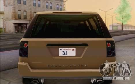 Gallivanter Baller из GTA V para GTA San Andreas vista inferior