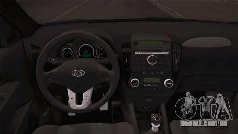 Kia Ceed 2011 SA Plates para GTA San Andreas vista traseira