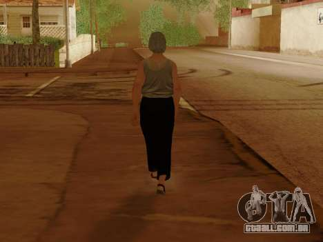 Mulher idosa para GTA San Andreas oitavo tela