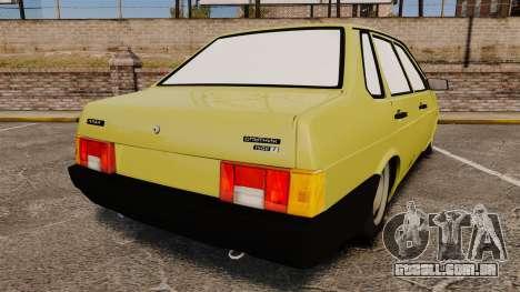 VAZ-Lada 21099 Companheiro para GTA 4 traseira esquerda vista