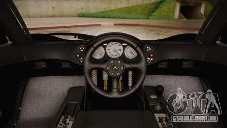 McLaren F1 Police Edition para GTA San Andreas vista traseira