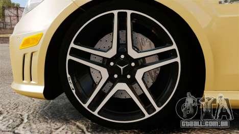 Mercedes-Benz E63 AMG para GTA 4 vista de volta