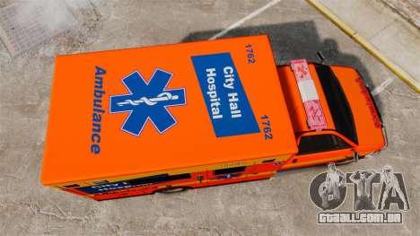 Brute CHH Ambulance para GTA 4 vista direita