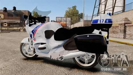 BMW R1150RT Police nationale [ELS] para GTA 4 esquerda vista