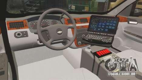Chevrolet Impala 2008 LCPD [ELS] para GTA 4 vista de volta