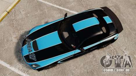 Mercedes-Benz SLS 2014 AMG Black Series Area 27 para GTA 4 vista direita