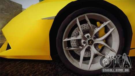 Lamborghini Huracane LP 610-4 V2.0 para GTA San Andreas esquerda vista