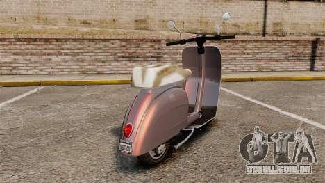 GTA V Pegassi Faggio para GTA 4 traseira esquerda vista