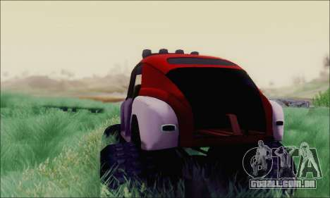 GÁS M20 Monstro para GTA San Andreas traseira esquerda vista
