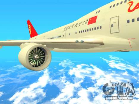 Boeing 747 Air China para GTA San Andreas vista direita
