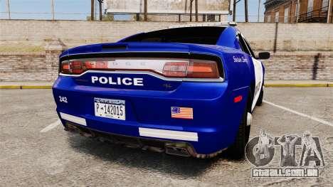 Dodge Charger 2013 LCPD [ELS] para GTA 4 traseira esquerda vista