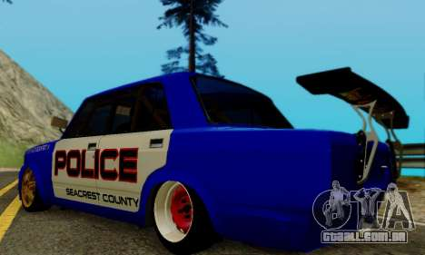 VAZ 2107 Drift para GTA San Andreas esquerda vista