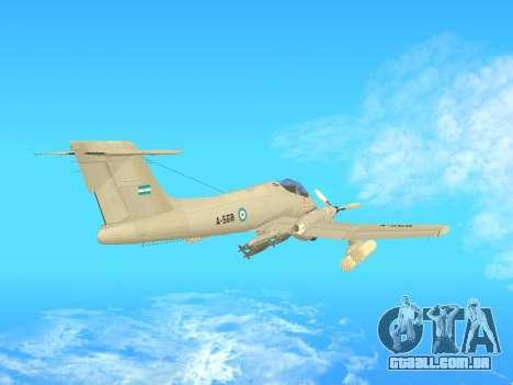 FMA IA-58 Pucara para GTA San Andreas traseira esquerda vista