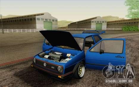 Volkswagen Golf MK2 LowStance para GTA San Andreas vista superior