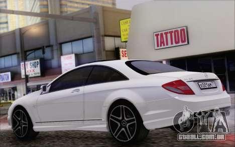 Mercedes-Benz CL65 AMG para GTA San Andreas traseira esquerda vista