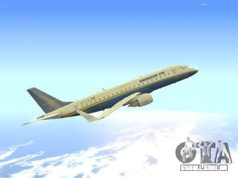 Embraer 175 HOUSE para GTA San Andreas vista interior