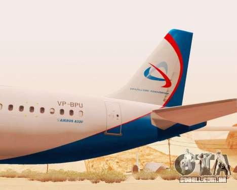 Airbus A320-200 Ural Airlines para GTA San Andreas vista traseira