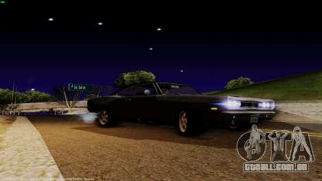 Dodge Coronet RT 1969 440 Six-pack para GTA San Andreas traseira esquerda vista
