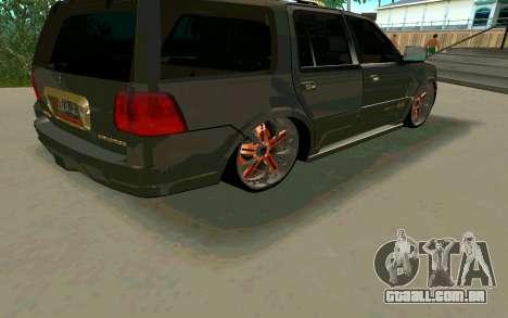 Lincoln Navigator DUB Edition para GTA San Andreas vista traseira