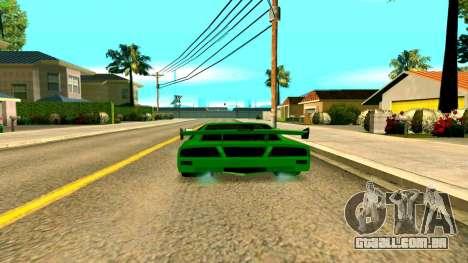 Novo Turismo para GTA San Andreas traseira esquerda vista