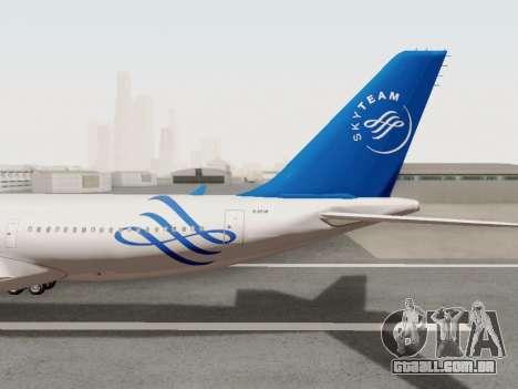 A330-202 China Eastern para GTA San Andreas vista interior