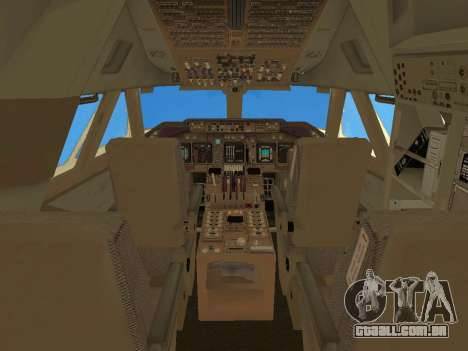 Boeing 747 Air China para GTA San Andreas interior