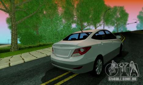 Hyndai Solaris para GTA San Andreas interior