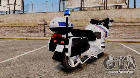 BMW R1150RT Police nationale [ELS] para GTA 4 vista direita