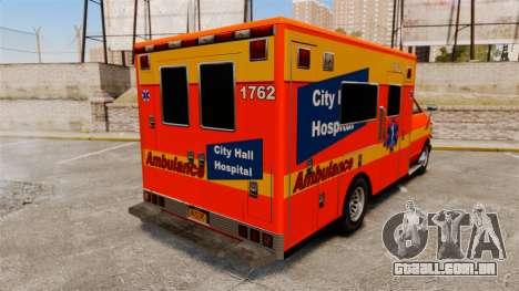 Brute CHH Ambulance para GTA 4 traseira esquerda vista