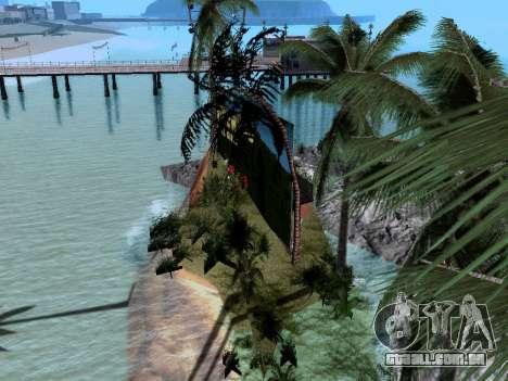 Nova ilha v1.0 para GTA San Andreas quinto tela