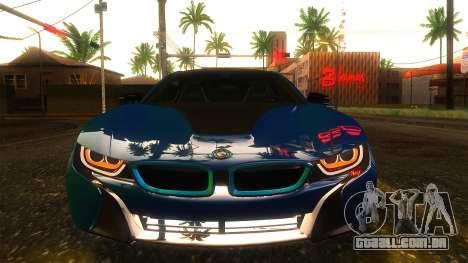 BMW I8 2013 para GTA San Andreas vista traseira