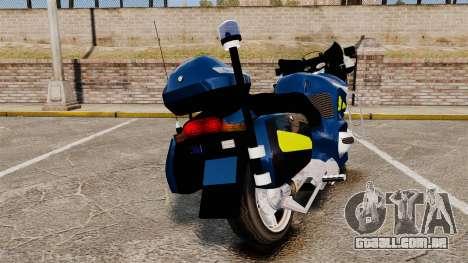 BMW R1150RT Gendarmerie [ELS] para GTA 4 traseira esquerda vista