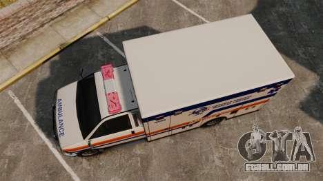 Brute CHMC Ambulance para GTA 4 vista direita