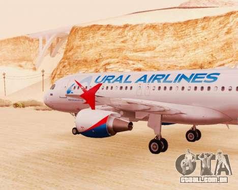 Airbus A320-200 Ural Airlines para GTA San Andreas vista direita