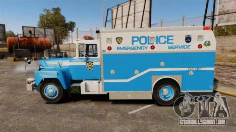 Mack R Bronx 1993 NYPD Emergency Service para GTA 4 esquerda vista