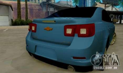 Chevrolet Malibu para GTA San Andreas vista traseira