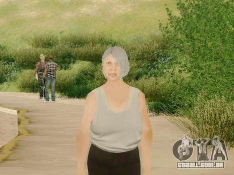 Mulher idosa para GTA San Andreas terceira tela