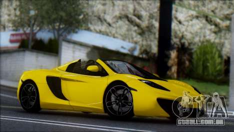 McLaren MP4-12C Spider para GTA San Andreas vista traseira