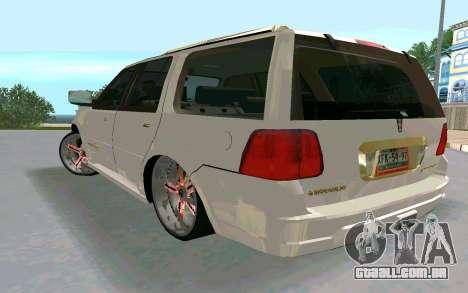 Lincoln Navigator DUB Edition para GTA San Andreas esquerda vista