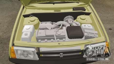 VAZ-Lada 21099 Companheiro para GTA 4 vista interior