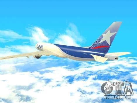 Boeing 777 LAN Cargo para GTA San Andreas vista interior