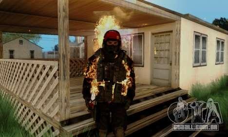 Kopassus Skin 1 para GTA San Andreas sexta tela