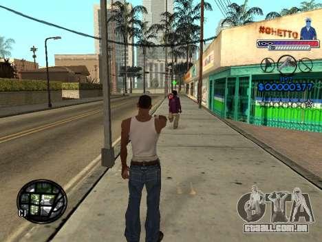 O novo C-HUD do Gueto para GTA San Andreas quinto tela