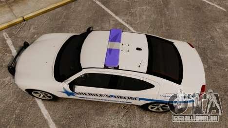 Dodge Charger 2010 Liberty County Sheriff [ELS] para GTA 4 vista direita