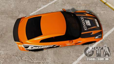 Nissan GT-R 2012 Black Edition NFS Underground para GTA 4 vista direita